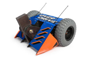 The Overdrive (above), featured on ABC's BattleBots, includes several end-use parts that Proto Labs produced, such as this component for the weapon-pulley system (below).
